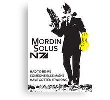Mordin Solus 007 Canvas Print