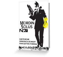 Mordin Solus 007 Greeting Card