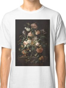 Jan Davidsz De Heem - Still Life With Flowers In A Glass Bowl. Still life with flowers: flowers, blossom, nature, botanical, floral flora, wonderful flower, plants, cute plant for interior, garden Classic T-Shirt