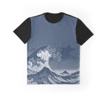 The Great Litho wave of Kanagawa Graphic T-Shirt