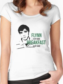 Flynn Loves Breakfast Women's Fitted Scoop T-Shirt