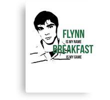 Flynn Loves Breakfast Canvas Print