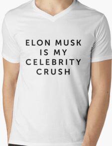 Elon Musk is My Celebrity Crush Mens V-Neck T-Shirt