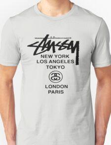 BEST STUSSY World Tour Warp Crew logo Unisex T-Shirt