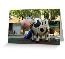 Playgroung cow Greeting Card