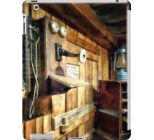 Old Fashioned Telephone in Office iPad Case/Skin