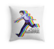 Flaming Homosapien! Throw Pillow
