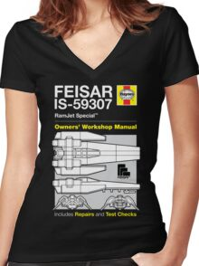 Haynes Manual - FEISAR IS-59307 - T-shirt Women's Fitted V-Neck T-Shirt