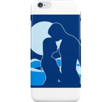 full moon romance liebespaar water swimming iPhone Case/Skin