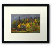 Jasper Francis Cropsey - Autumn Foliage. Forest view: forest view, trees, field, nature, botanical forestry, floral flora, wonderful flowers, plants, cute plant, garden, flowers Framed Print