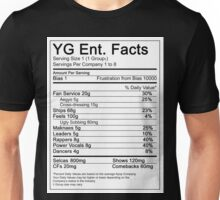 YG Ent. Nutrition Facts Unisex T-Shirt