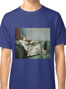 Jean Etienne Liotard - Portrait Of Maria Adelaide Of France In Turkish Style Clothes . Woman portrait: sensual woman, girly art, female style, pretty women, femine, beautiful dress, creativity, love Classic T-Shirt