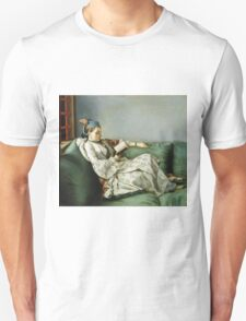 Jean Etienne Liotard - Portrait Of Maria Adelaide Of France In Turkish Style Clothes . Woman portrait: sensual woman, girly art, female style, pretty women, femine, beautiful dress, creativity, love Unisex T-Shirt