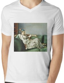 Jean Etienne Liotard - Portrait Of Maria Adelaide Of France In Turkish Style Clothes . Woman portrait: sensual woman, girly art, female style, pretty women, femine, beautiful dress, creativity, love Mens V-Neck T-Shirt