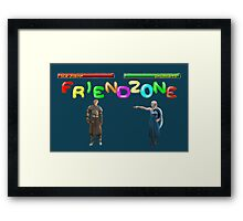 Mortal Friendzone Framed Print