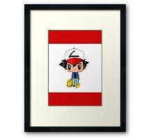 Chibi Ash Ketchum Framed Print