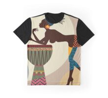 African woman with bongos Graphic T-Shirt