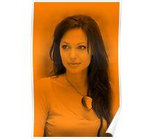 Anjelina Jolie - Hot Celebrity (Orange) Poster