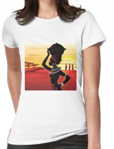 African woman Womens Fitted T-Shirt