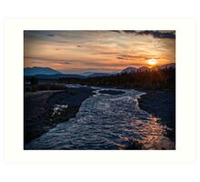 Sunrise at Quill Creek Art Print