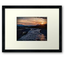 Sunrise at Quill Creek Framed Print