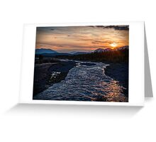 Sunrise at Quill Creek Greeting Card