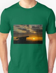 5000 years old Polnabrone Dolmen in Burren, National Park Sunset,  Co. Clare - Ireland T-Shirt