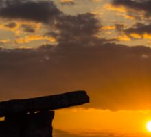 5000 years old Polnabrone Dolmen in Burren, National Park Sunset,  Co. Clare - Ireland Sticker