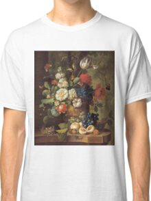 Jan Van Os - Flowers . Still life with flowers: still life with flowers, flowers, blossom, nature, botanical, floral flora, wonderful flower, plants, cute plant for kitchen interior, garden, vase Classic T-Shirt