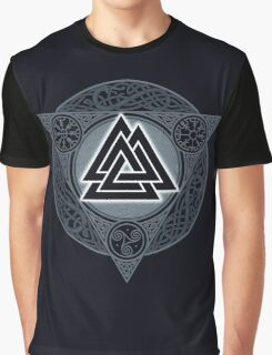 VALKNUT. ICE FLAME. Graphic T-Shirt