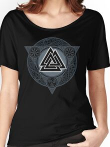 VALKNUT. ICE FLAME. Women's Relaxed Fit T-Shirt