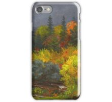 Jasper Francis Cropsey - Autumn Foliage. Forest view: forest view, trees, field, nature, botanical forestry, floral flora, wonderful flowers, plants, cute plant, garden, flowers iPhone Case/Skin