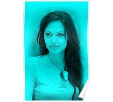 Anjelina Jolie - Hot Celebrity (Aqua) Poster
