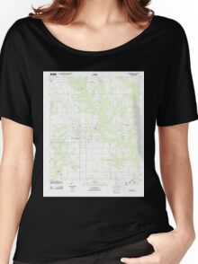 USGS TOPO Map Alabama AL Robertsdale 20110921 TM Women's Relaxed Fit T-Shirt