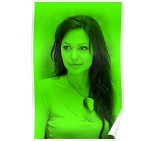 Anjelina Jolie - Hot Celebrity (Green) Poster