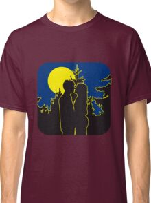 full moon romance love couple love couple Classic T-Shirt