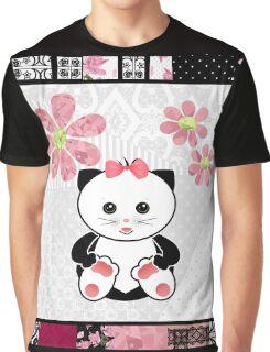 Cat kids animal illustration background Graphic T-Shirt