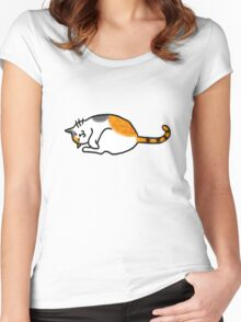 Calico cat - v2 Women's Fitted Scoop T-Shirt