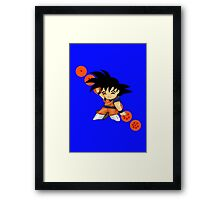 Dancing Goku Framed Print
