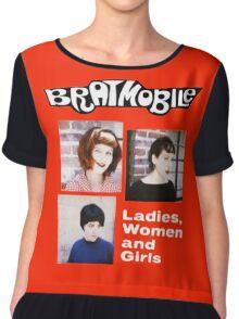 bratmobile riot grrrl ladies women and girls Chiffon Top