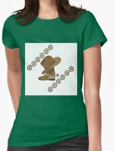 Cowboy Boot and Hat Off Wooden Inlay T-Shirt