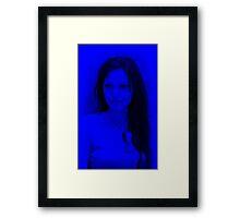 Anjelina Joly - Hot Celebrity (Blue) Framed Print