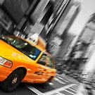 new york times square cityscape skyline yellow taxi cab by Noel Moore Up The Banner Photography