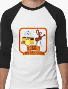 Rockin Paper Scissors Men's Baseball ¾ T-Shirt