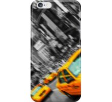 new york times square cityscape skyline yellow taxi cab iPhone Case/Skin