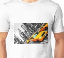 new york times square cityscape skyline yellow taxi cab Unisex T-Shirt