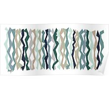 Mint and Blues Color Sticks Poster
