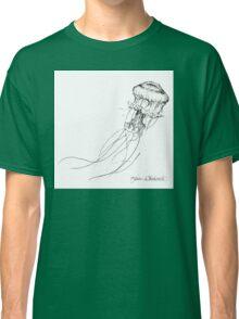 Jellyfish Sketch - Black and White Nautical Theme Decor Classic T-Shirt