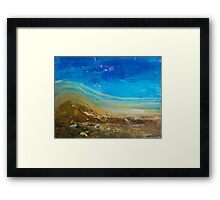 Blue Windswept Abstract Painting Framed Print