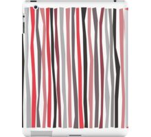 Red Black and Gray Color Sticks iPad Case/Skin